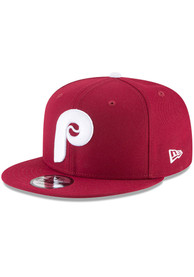 Philadelphia Phillies Youth New Era Retro JR 9FIFTY Snapback Hat - Maroon