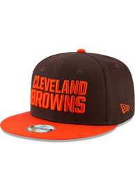 Cleveland Browns Youth New Era 2T JR 9FIFTY Snapback Hat - Brown