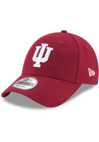 Indiana Hoosiers New Era The League 9FORTY Adjustable Hat - Crimson