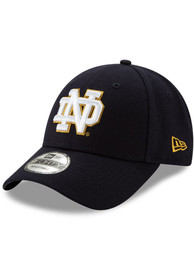 Notre Dame Fighting Irish New Era The League 9FORTY Adjustable Hat - Navy Blue