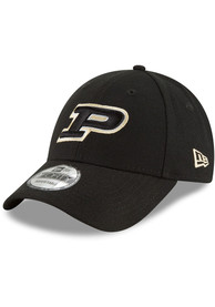 Purdue Boilermakers New Era The League 9FORTY Adjustable Hat - Black