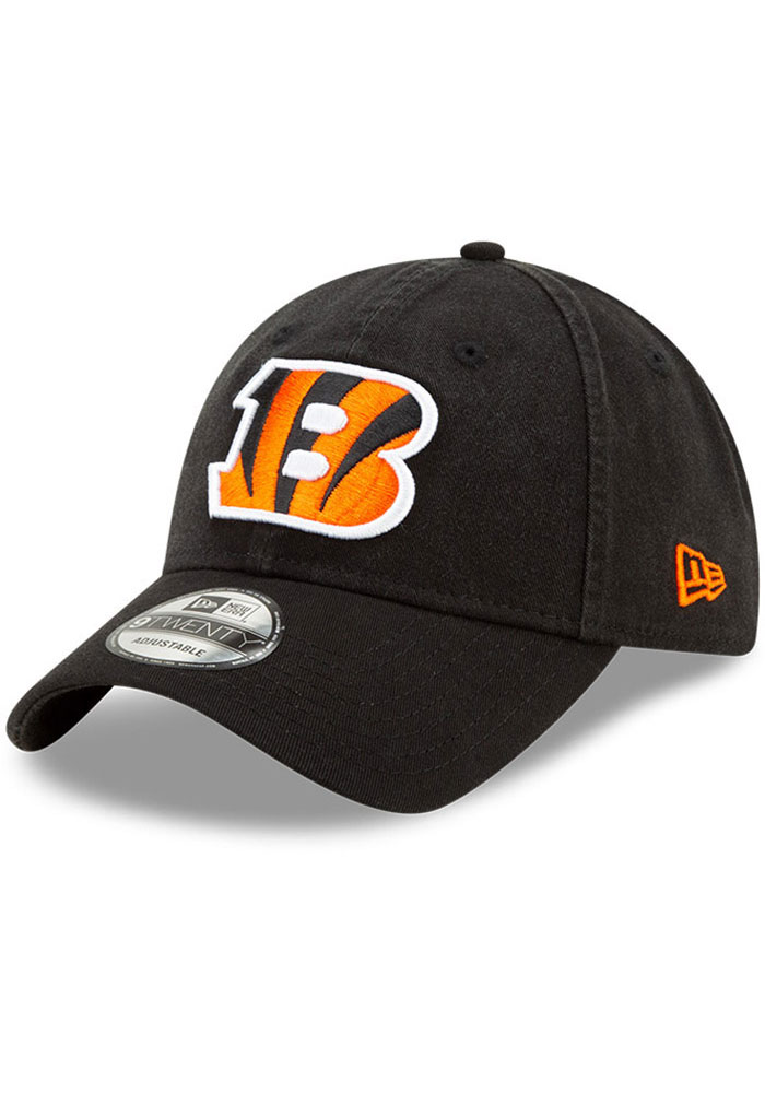 Cincinnati Bengals New Era Core Classic 9TWENTY Adjustable Hat - Black