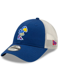 Kansas Jayhawks New Era Retro Trucker 9FORTY Adjustable Hat - Blue