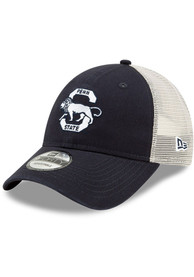 Penn State Nittany Lions New Era Retro Trucker 9FORTY Adjustable Hat - Navy Blue