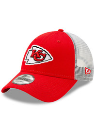 Kansas City Chiefs New Era Trucker 9FORTY Adjustable Hat - Red