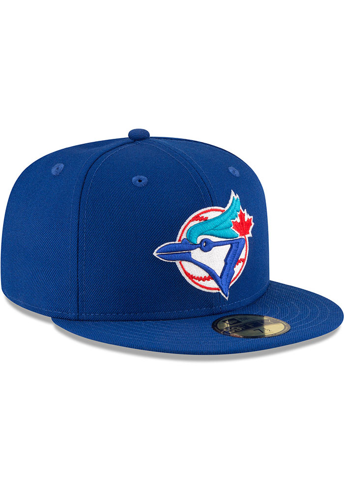 New Era Toronto Blue Jays Mens Blue 1993 World Series Side Patch 59FIFTY Fitted Hat - Image 2