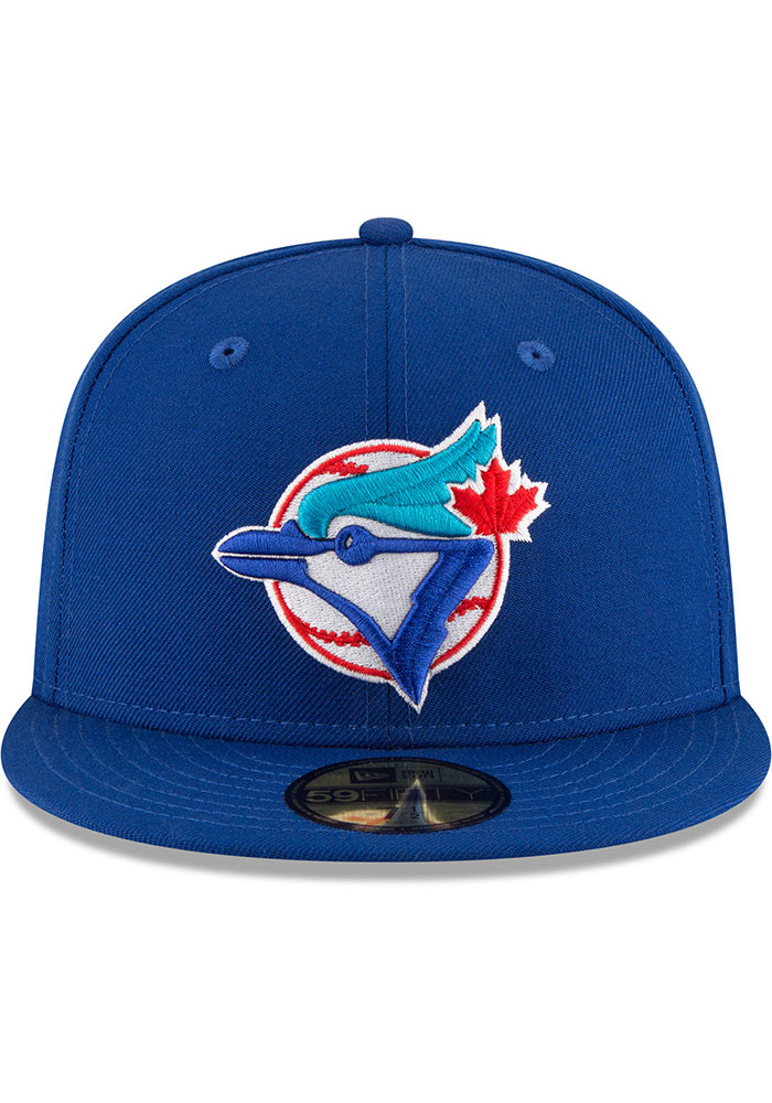New Era Toronto Blue Jays Mens Blue 1993 World Series Side Patch 59FIFTY Fitted Hat - Image 3