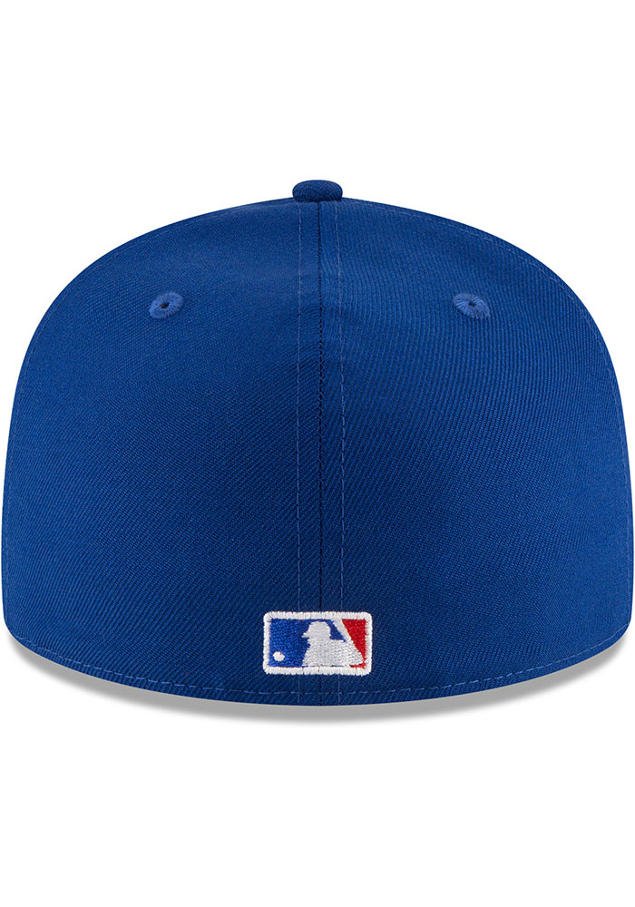 New Era Toronto Blue Jays Mens Blue 1993 World Series Side Patch 59FIFTY Fitted Hat - Image 5