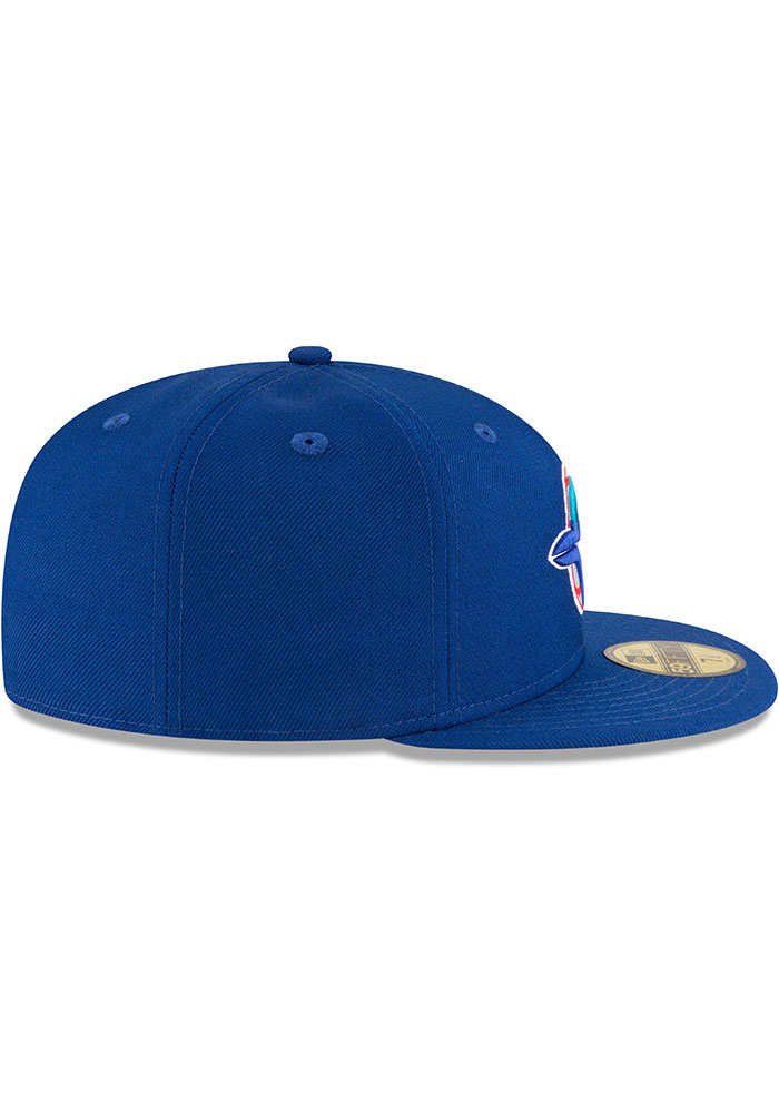 New Era Toronto Blue Jays Mens Blue 1993 World Series Side Patch 59FIFTY Fitted Hat - Image 6