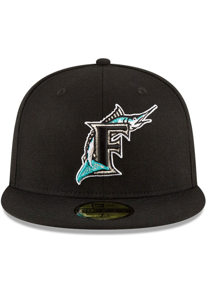 New Era Miami Marlins Mens Black 1997 World Series Side Patch 59FIFTY Fitted Hat - Image 3
