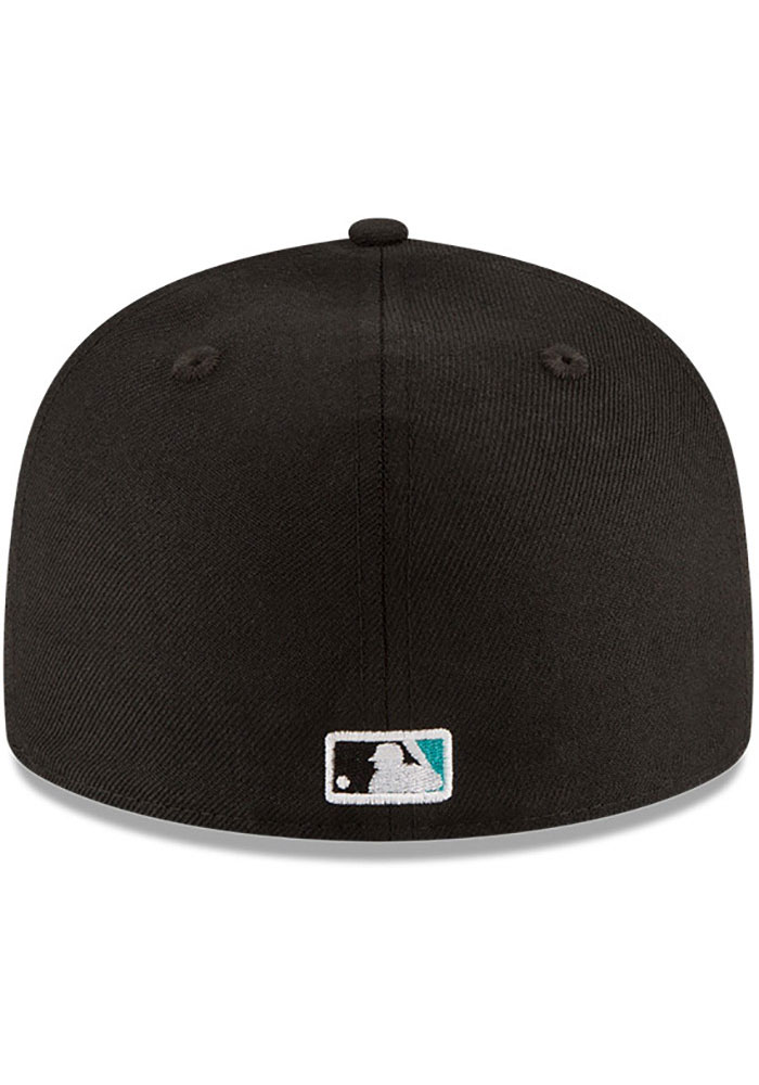 New Era Miami Marlins Mens Black 1997 World Series Side Patch 59FIFTY Fitted Hat - Image 5