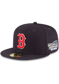 Boston Red Sox New Era 2004 World Series Side Patch 59FIFTY Fitted Hat - Navy Blue
