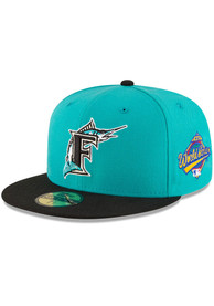 Miami Marlins New Era 1997 World Series Side Patch 59FIFTY Fitted Hat - Teal