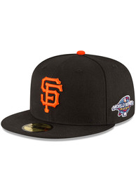 San Francisco Giants New Era 2002 World Series Side Patch 59FIFTY Fitted Hat - Black