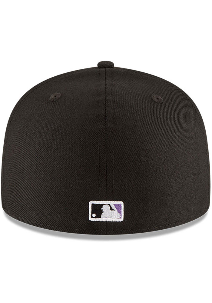 New Era Arizona Diamondbacks Mens Black 2001 World Series Side Patch 59FIFTY Fitted Hat - Image 5