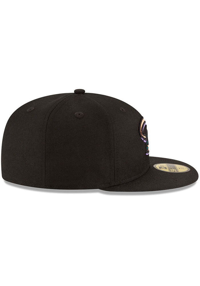New Era Arizona Diamondbacks Mens Black 2001 World Series Side Patch 59FIFTY Fitted Hat - Image 6