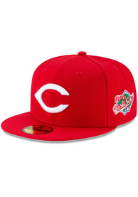 Cincinnati Reds New Era 1990 World Series Side Patch 59FIFTY Fitted Hat - Red