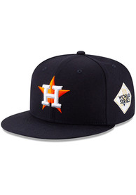 Houston Astros New Era 2017 World Series Side Patch 59FIFTY Fitted Hat - Navy Blue