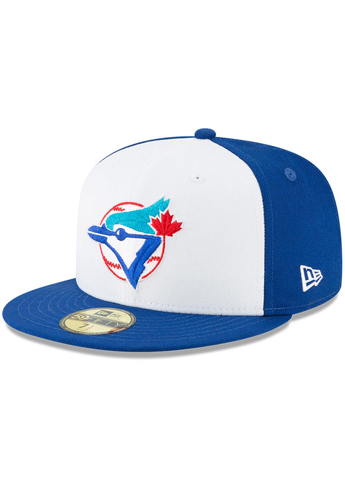 New Era Toronto Blue Jays Mens Blue Cooperstown 59FIFTY Fitted Hat - Image 1