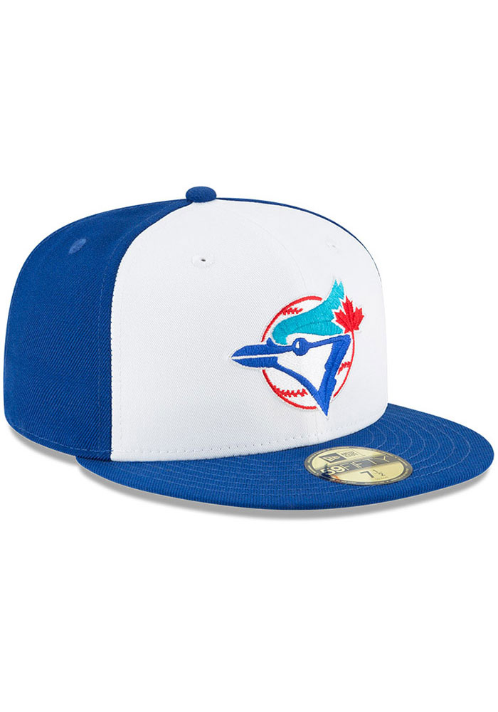 New Era Toronto Blue Jays Mens Blue Cooperstown 59FIFTY Fitted Hat - Image 2