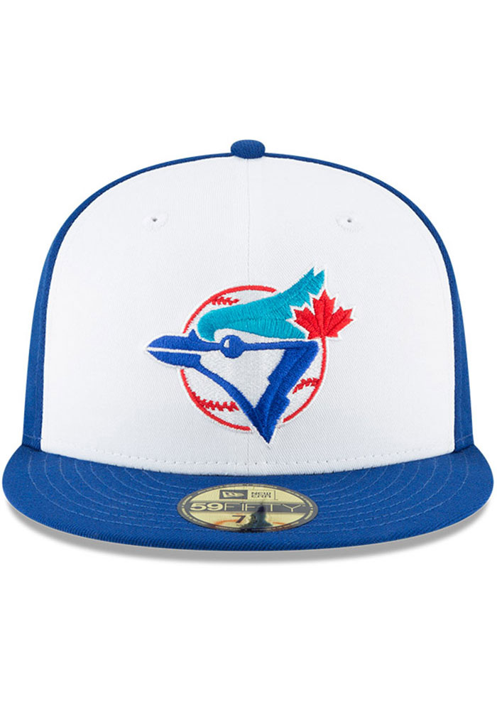 New Era Toronto Blue Jays Mens Blue Cooperstown 59FIFTY Fitted Hat - Image 3