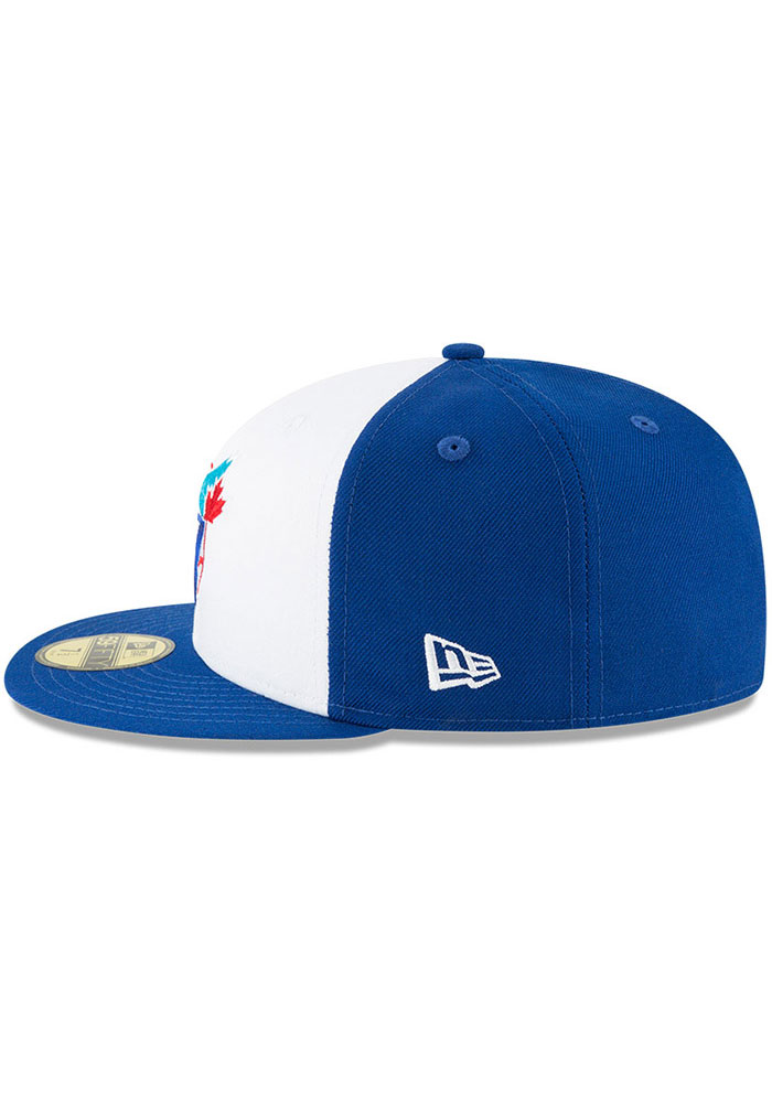 New Era Toronto Blue Jays Mens Blue Cooperstown 59FIFTY Fitted Hat - Image 4