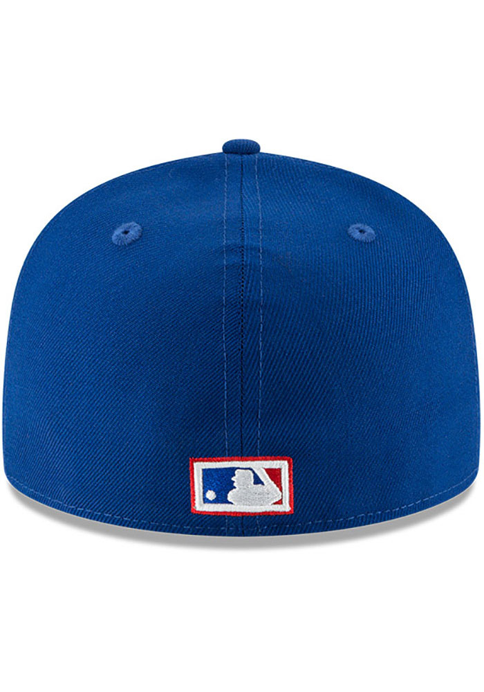 New Era Toronto Blue Jays Mens Blue Cooperstown 59FIFTY Fitted Hat - Image 5