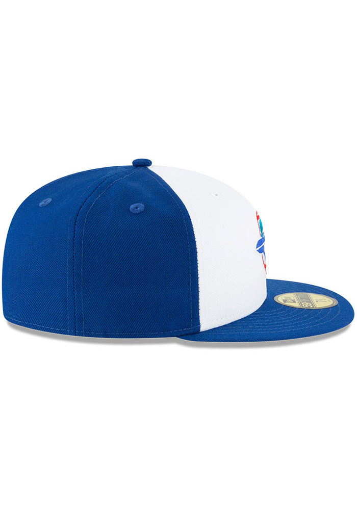 New Era Toronto Blue Jays Mens Blue Cooperstown 59FIFTY Fitted Hat - Image 6