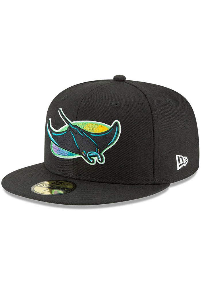 Tampa Bay Rays New Era Cooperstown 59FIFTY Fitted Hat - Black