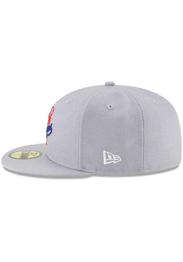 New Era Los Angeles Dodgers Mens Grey Cooperstown 59FIFTY Fitted Hat - Image 4