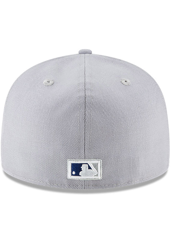 New Era Los Angeles Dodgers Mens Grey Cooperstown 59FIFTY Fitted Hat - Image 5