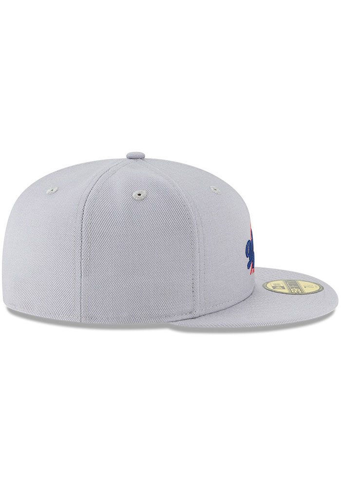 New Era Los Angeles Dodgers Mens Grey Cooperstown 59FIFTY Fitted Hat - Image 6