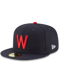 Texas Rangers New Era Washington Senators Cooperstown 59FIFTY Fitted Hat - Navy Blue