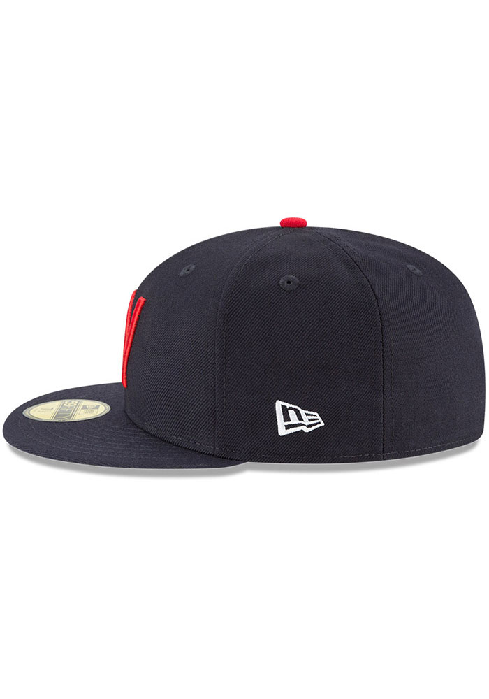 New Era Texas Rangers Mens Navy Blue Washington Senators Cooperstown 59FIFTY Fitted Hat - Image 4
