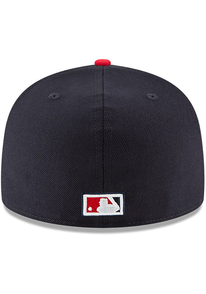 New Era Texas Rangers Mens Navy Blue Washington Senators Cooperstown 59FIFTY Fitted Hat - Image 5
