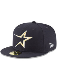 Houston Astros New Era Cooperstown 59FIFTY Fitted Hat - Navy Blue