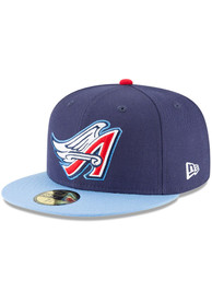 Los Angeles Angels New Era Cooperstown 59FIFTY Fitted Hat - Navy Blue