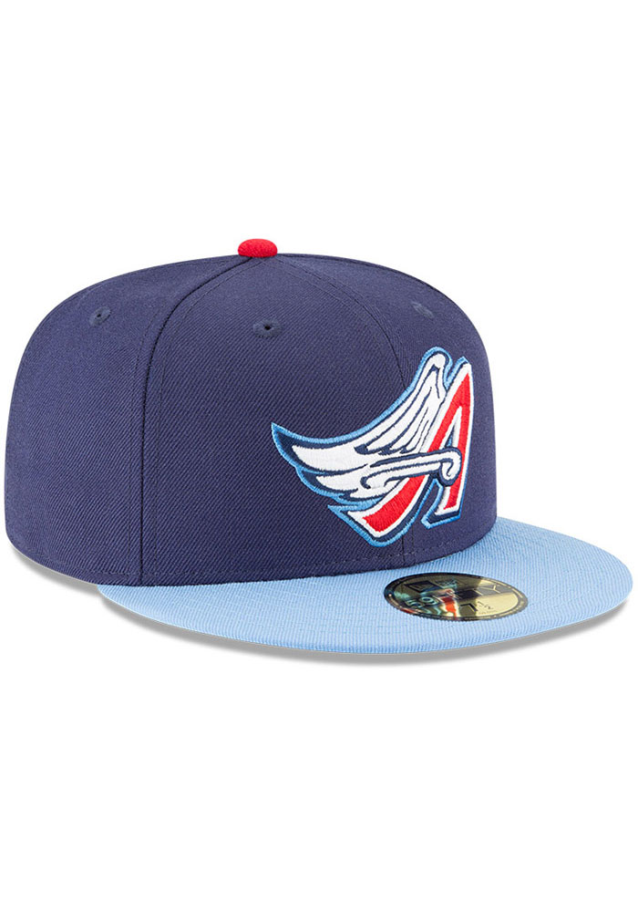 New Era Los Angeles Angels Mens Navy Blue Cooperstown 59FIFTY Fitted Hat - Image 2