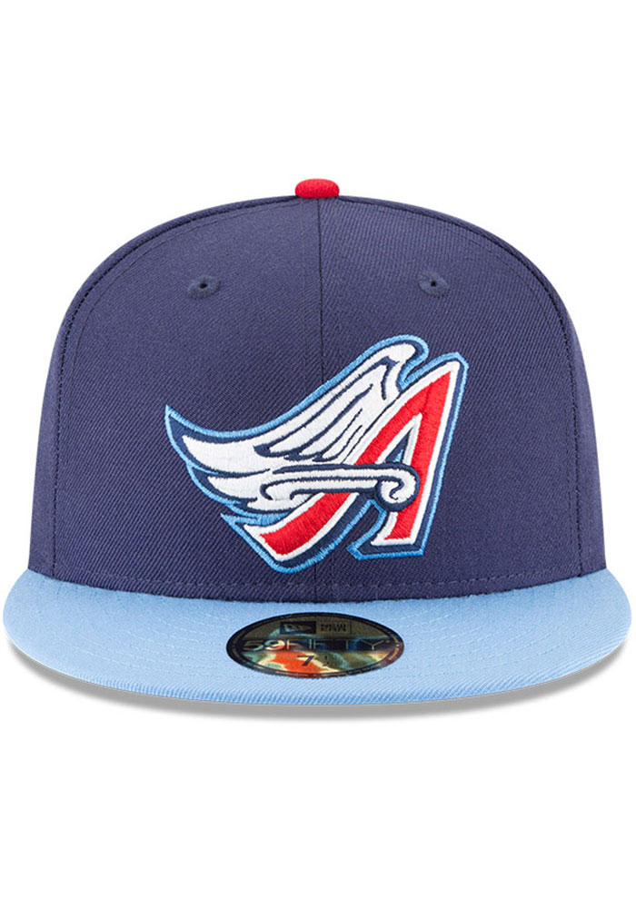 New Era Los Angeles Angels Mens Navy Blue Cooperstown 59FIFTY Fitted Hat - Image 3