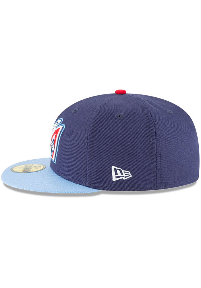 New Era Los Angeles Angels Mens Navy Blue Cooperstown 59FIFTY Fitted Hat - Image 4