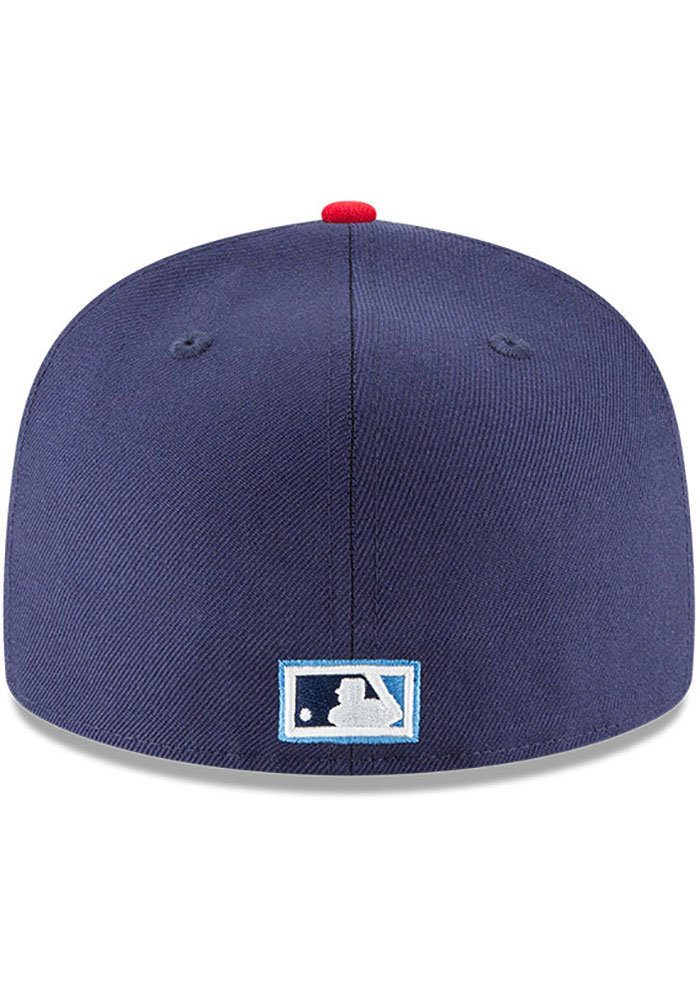 New Era Los Angeles Angels Mens Navy Blue Cooperstown 59FIFTY Fitted Hat - Image 5