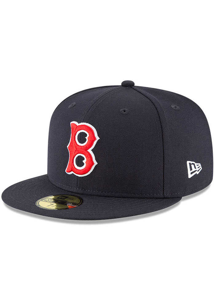 Boston Red Sox New Era Cooperstown 59FIFTY Fitted Hat - Navy Blue