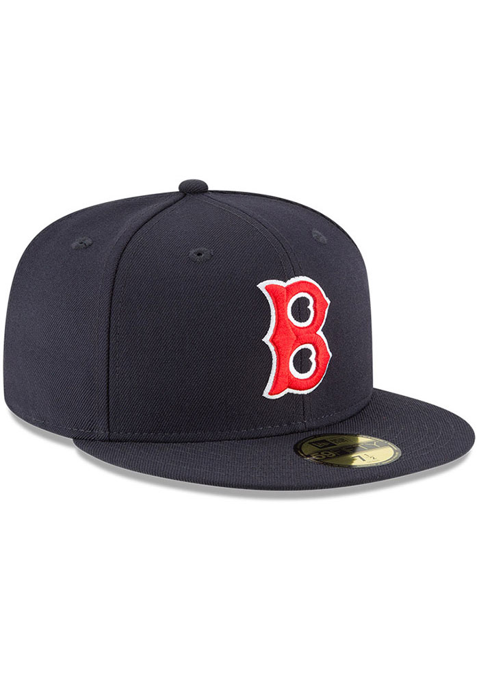 New Era Boston Red Sox Mens Navy Blue Cooperstown 59FIFTY Fitted Hat - Image 2