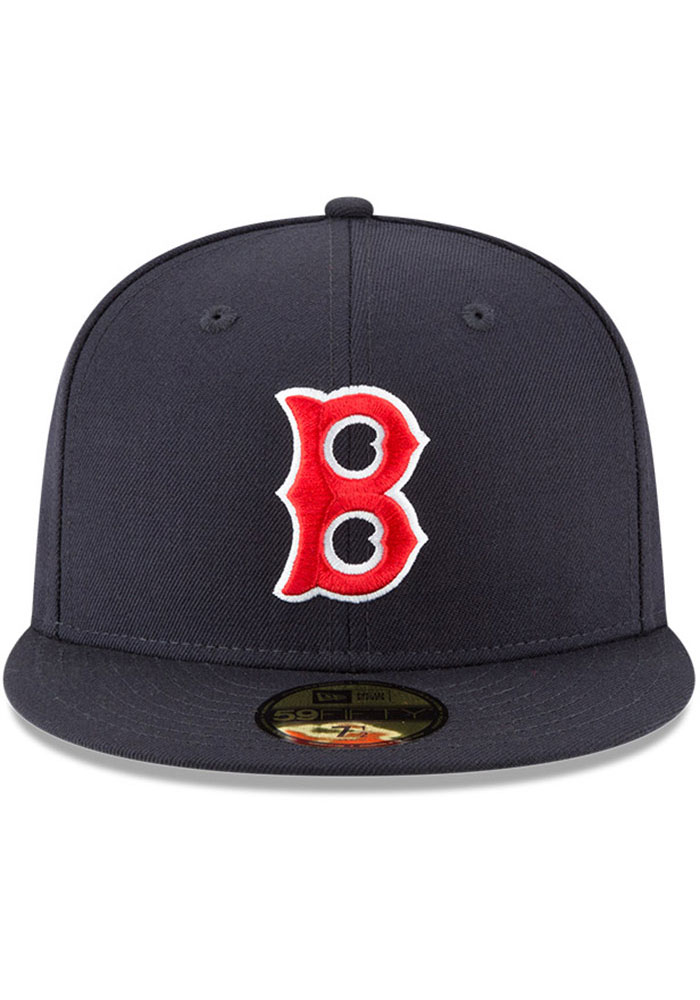 New Era Boston Red Sox Mens Navy Blue Cooperstown 59FIFTY Fitted Hat - Image 3