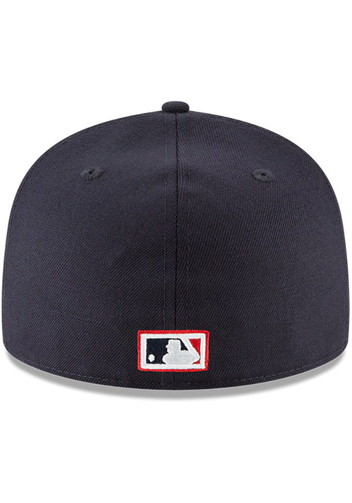 New Era Boston Red Sox Mens Navy Blue Cooperstown 59FIFTY Fitted Hat - Image 4