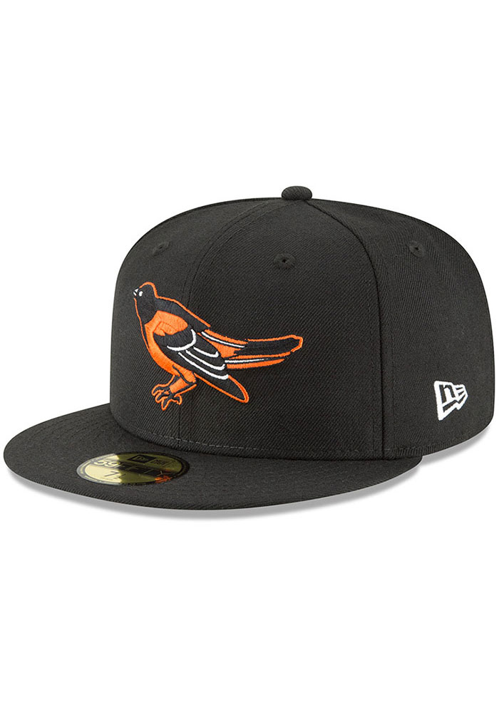 New Era Baltimore Orioles Mens Black Cooperstown 59FIFTY Fitted Hat - Image 1