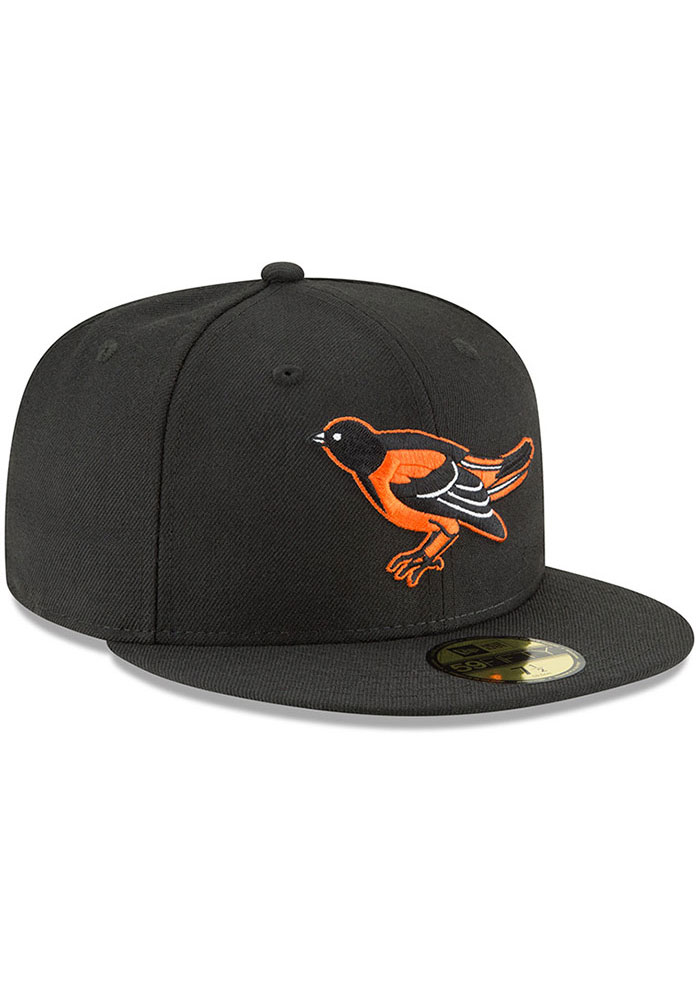 New Era Baltimore Orioles Mens Black Cooperstown 59FIFTY Fitted Hat - Image 2