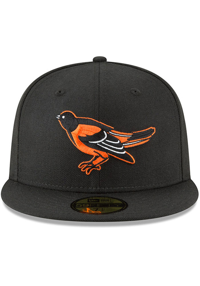 New Era Baltimore Orioles Mens Black Cooperstown 59FIFTY Fitted Hat - Image 3