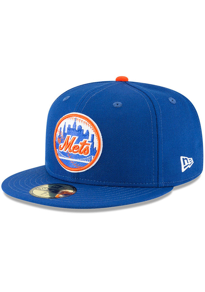 New York Mets New Era Cooperstown 59FIFTY Fitted Hat - Blue