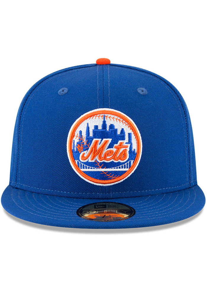 New Era New York Mets Mens Blue Cooperstown 59FIFTY Fitted Hat - Image 2